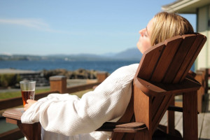 Relaxing at April Point Lodge and Fishing Resort.