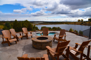 Patio at Six Lakes Resort.