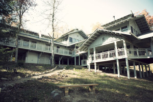 Exterior view of Hike Inn at Amicalola Falls.