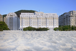 Exterior view of Copacabana Palace.