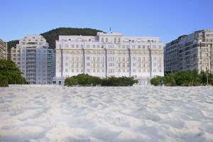 Exterior view of Copacabana Palace.