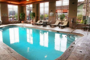Indoor pool at Canal Park Lodge.
