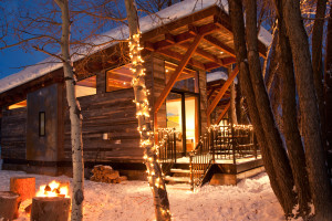 Cabin exterior at Fireside Resort at Jackson Hole.