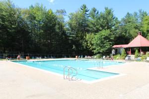 Outdoor pool at Attitash Mountain Village Resort.
