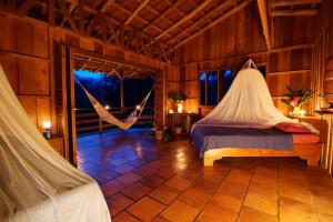 Guest room at Selva Bananito Lodge.