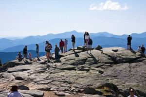 Hiking at The Whiteface Lodge.