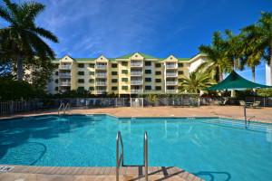 Outdoor pool at Sunrise Suites Resort.