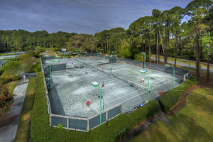 Tennis court at Jekyll Island Club Hotel.
