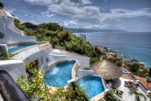 Ocean view at Ocho Cascadas Resort.