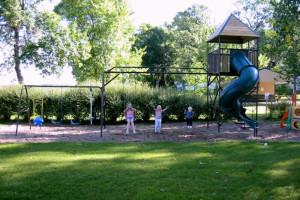 Playground at Barrett Lake Resort.