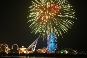 Fireworks at Coliseum Ocean Resort.