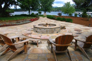 Fire pit at The Ridges Resort & Club Lake Chatuge.
