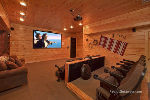 Movie theater in a vacation home at American Patriot Getaways, LLC.
