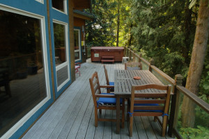 Cabin deck at Mt. Baker Lodging.