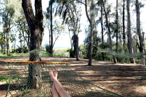 Relax in the hammocks at Lumeria Maui.