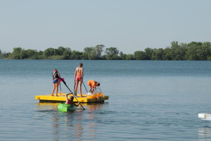 Lake activities at Barrett Lake Resort.