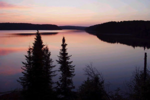 Norse Lake Outpost at Sunset - Pickerel Lake Outfitters