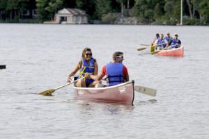 Canoeing at Sherwood Inn.