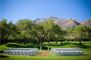 Outdoor wedding at The Lodge at Ventana Canyon.