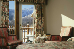 Balcony room at The Mountain Inn.