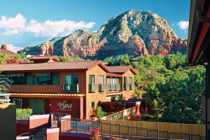 Exterior view of Sedona Rouge Hotel & Spa.