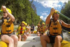 Rafting at Northern Outdoors.
