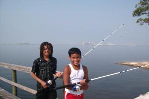 Fishing at Navarre Beach Campground.