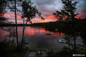 Sunset at Sleeping Bear Resort.