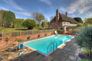 Outdoor pool at Manor Farmhouse.