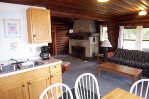 Cabin interior at Park Point Resort.