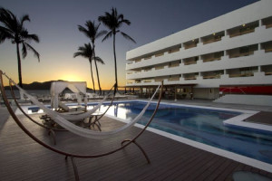 Outdoor pool at Hotel Emporio Mazatlan.