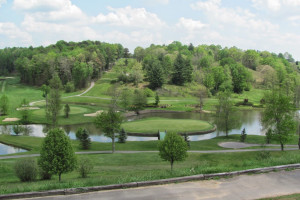 Golf course near The Cabins at Pine Haven.