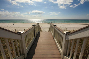 Boardwalk to the beach at Sterling Resorts.