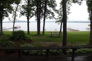 View of lake at Gull Lake Resort.
