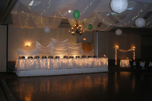 Wedding dance floor at Arrowwood Resort and Conference Center.