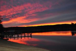 Sunset at Naswa Resort.