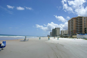 Beach view at Daytona Shores Inn and Suites.