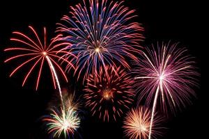 Fireworks at Lizzie Lu's Island Retreat.