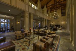 Lobby at Hyatt Regency Hill Country Resort and Spa.