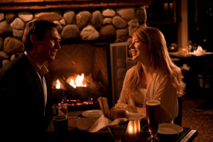 Romantic dining at Saybrook Point Inn.