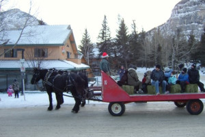 Holiday wagon ride at Douglas Fir Resort & Chalets.