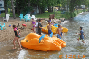 Water activities at Train Bell Resort.