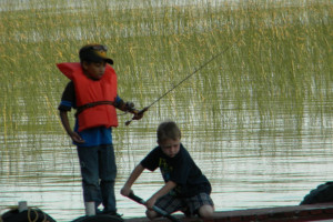 Fishing at Fremont's Point Resort.