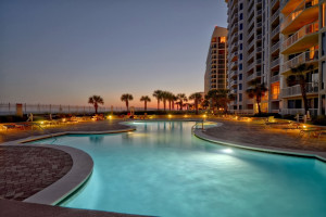 Outdoor pool at Silver Beach Towers.