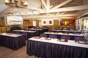 Meeting room at C Lazy U Ranch.