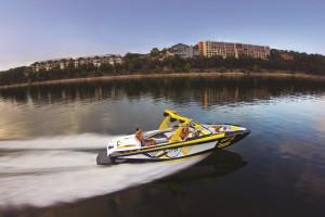 Boating at Lakeway Resort and Spa.