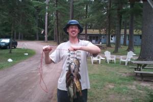 Fishing at Crimson Hue Resort.