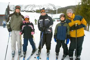 Skiing at Bridger Vista Lodge.