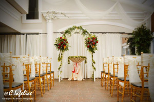 Wedding ceremony at The White Sands Oceanfront Resort & Spa.