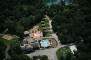 Aerial View of Baraboo Hills Campground